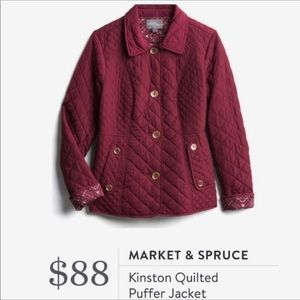NWT Burgundy Quilted Jacket